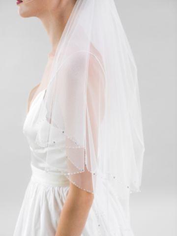 Joyce Jackson Deri Scalloped Edge Veil with Diamante and Crystal