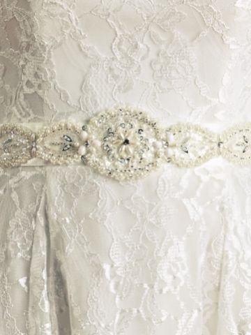 Joyce Jackson Seaton Pearl and Beaded Dress Belt