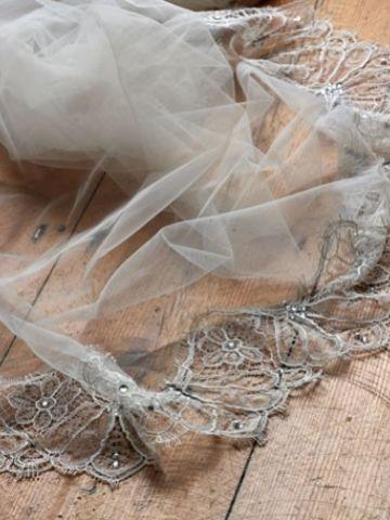 Joyce Jackson Templeton Vintage-Inspired Lace Edge Veil