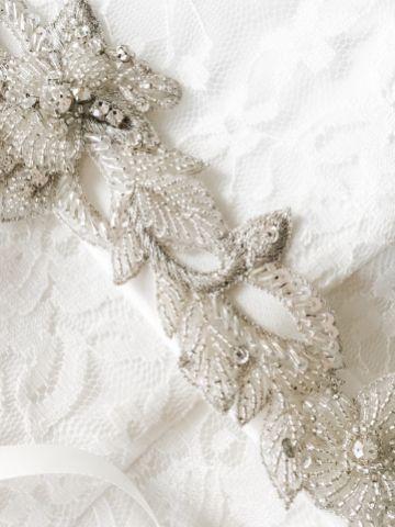 Marlowe Beaded and Crystal Vine Bridal Belt