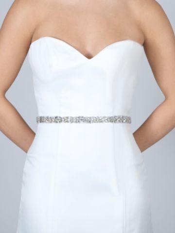 Perfect Bridal Gabrielle Slim Crystal Embellished Wedding Belt