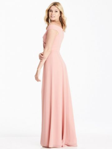 Social Off-the Shoulder Pleated Bodice Dress with Front Slits 8186