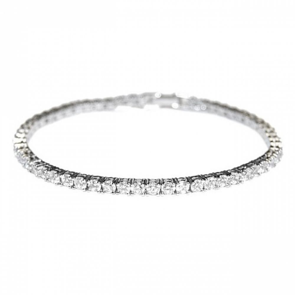 Alanna Simple Cubic Zirconia Tennis Bracelet (Silver)
