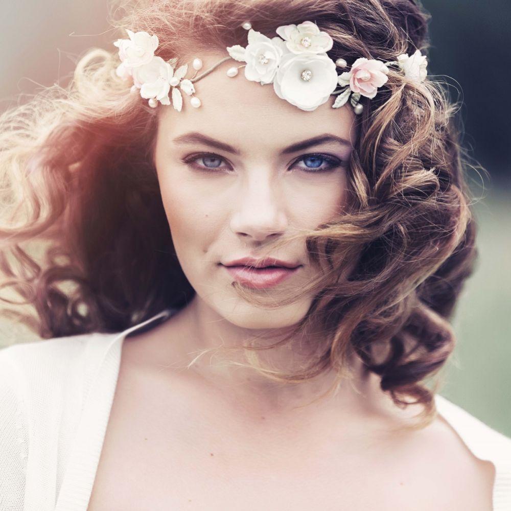 Appolonia Romantic Bohemian Bridal Flower Crown