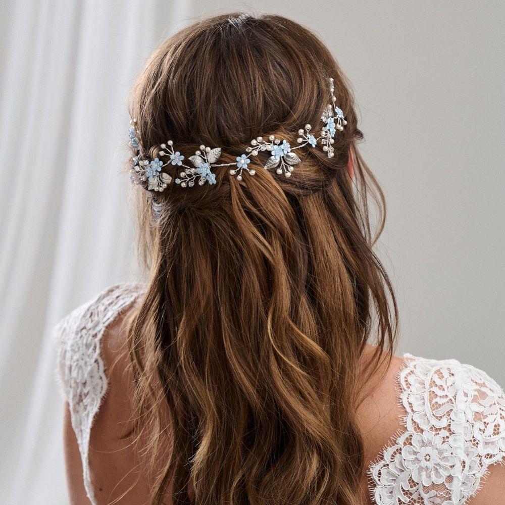 Arianna Forget Me Not Floral Hair Vine AR599