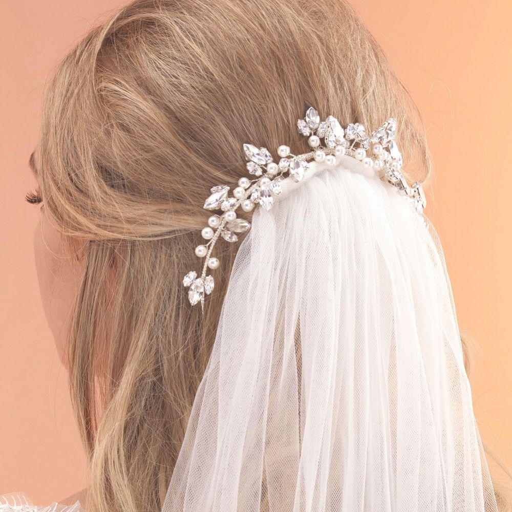 Arianna Grecian Pearl and Crystal Bun Ring AR491