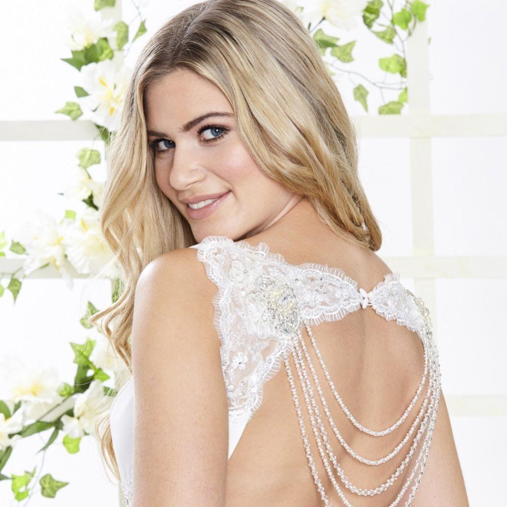 Arianna Hermia Multi Strand Pearl and Crystal Back Jewellery ARN102