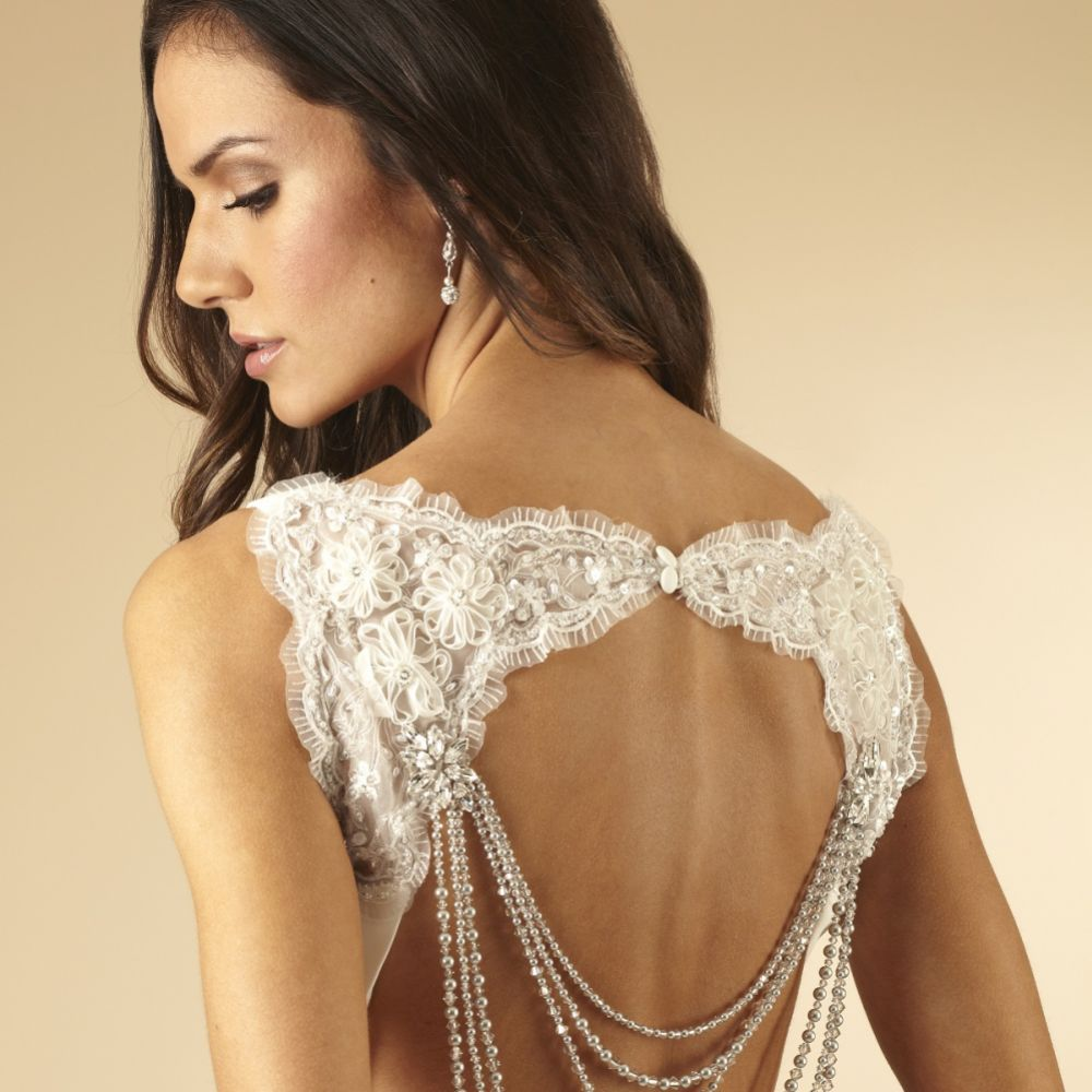Arianna Multi Strand Crystal Wedding Back Jewellery ARN094