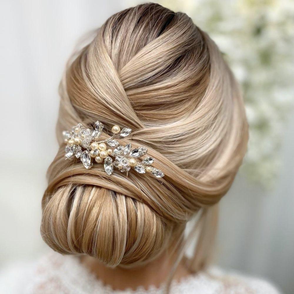 Arianna Pearl Blossom Bridal Veil Comb AR434
