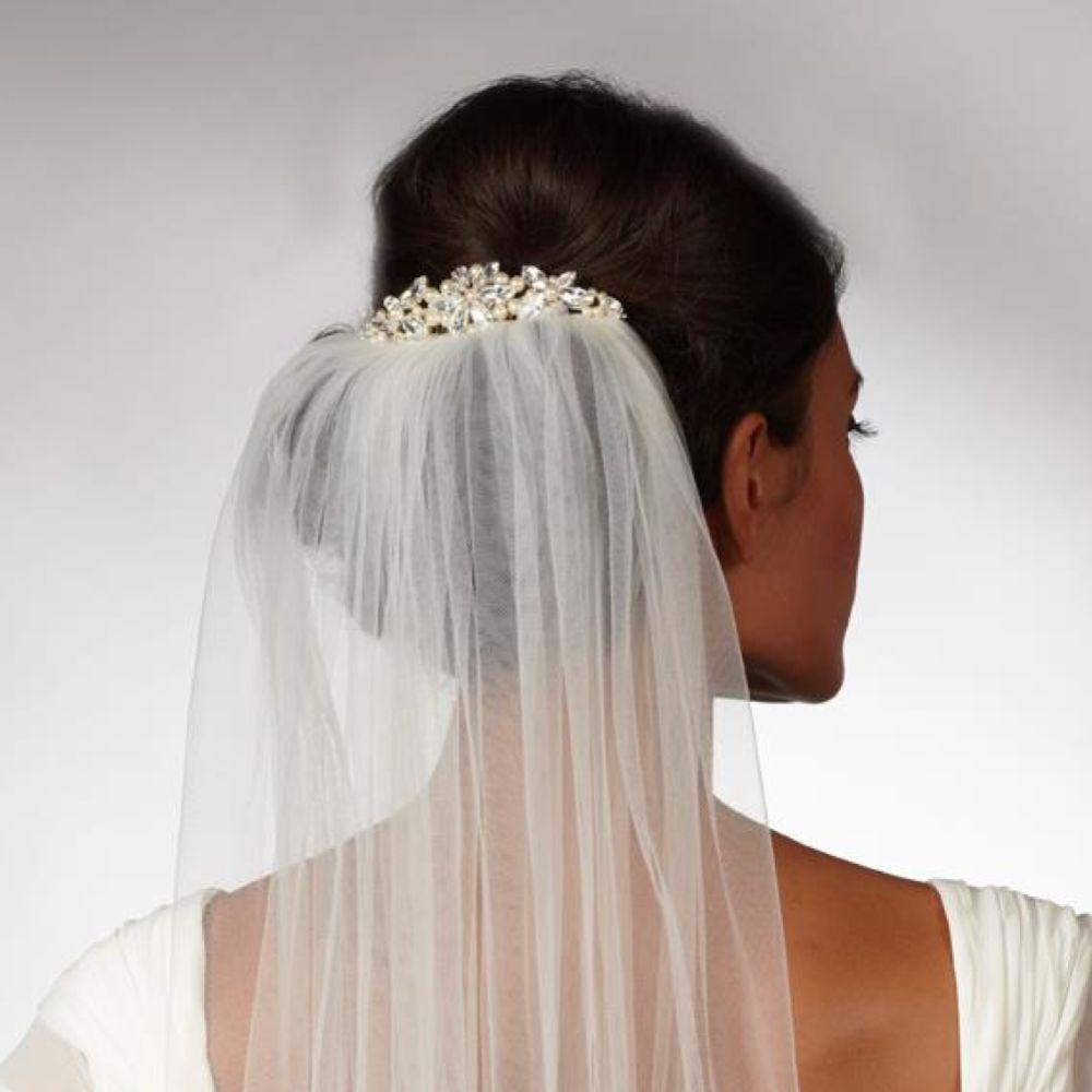 Arianna Pearl Star Bridal Veil Comb AR430