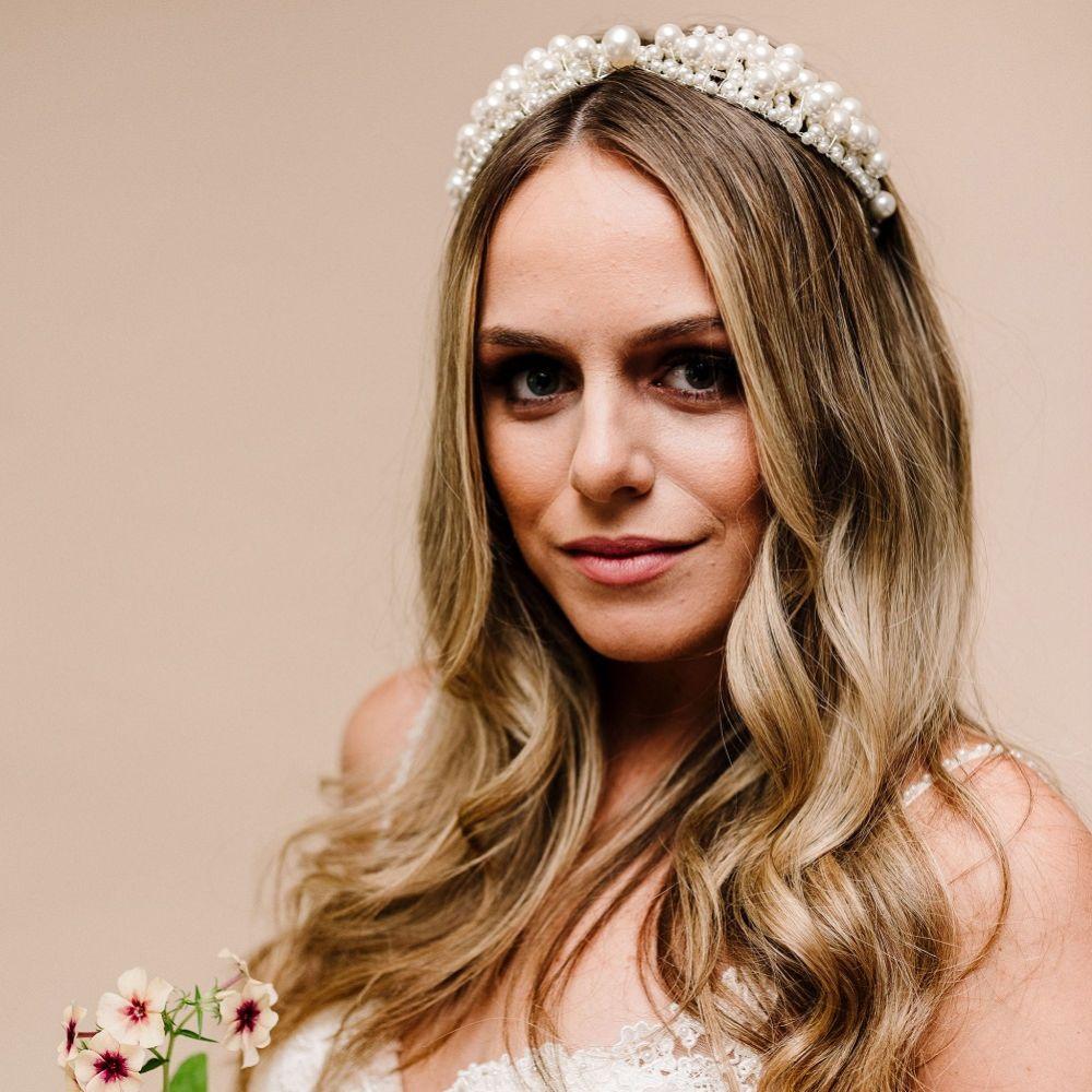 Arianna Spirit Pearl Embellished Wedding Headband AR618