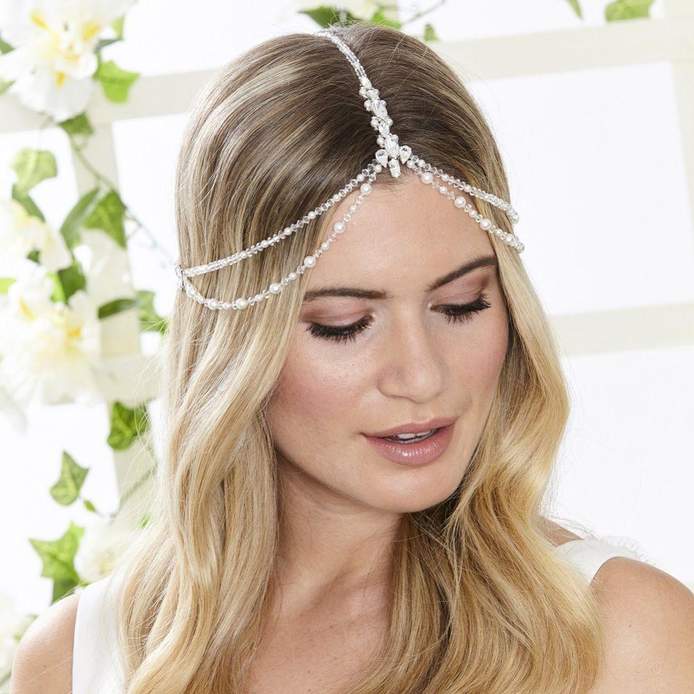 Arianna Titania Draped Bohemian Bridal Headpiece AR546