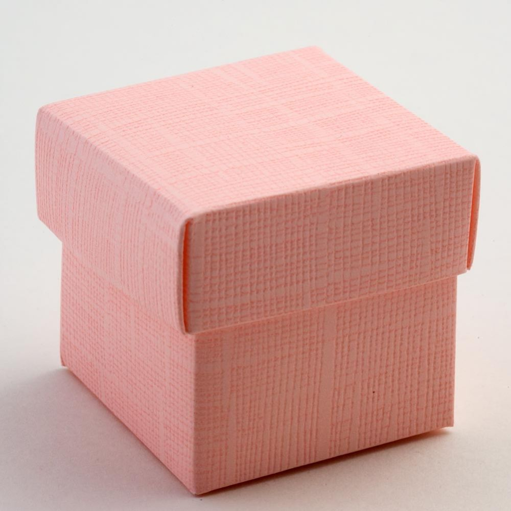 Baby Pink Silk Favour Box - Pack of 10