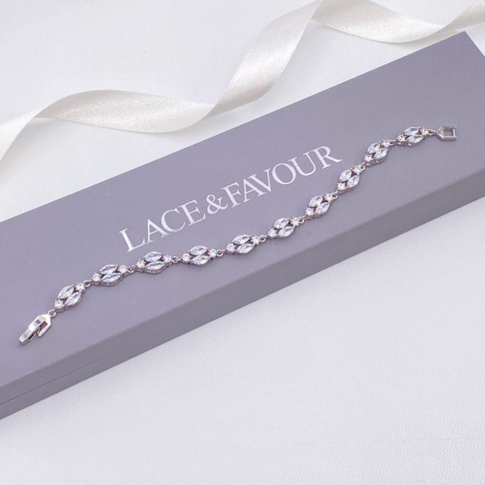 Berkeley Delicate Cubic Zirconia Wedding Bracelet (Silver)