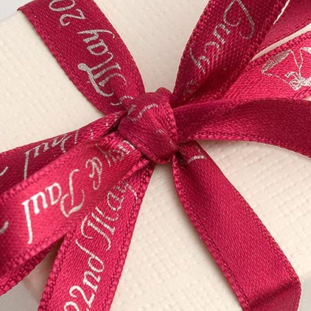 Cerise Personalised Ribbon - 25m
