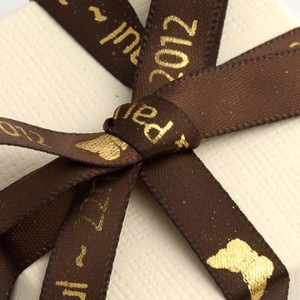 Chocolate Brown Personalised Ribbon - 25m