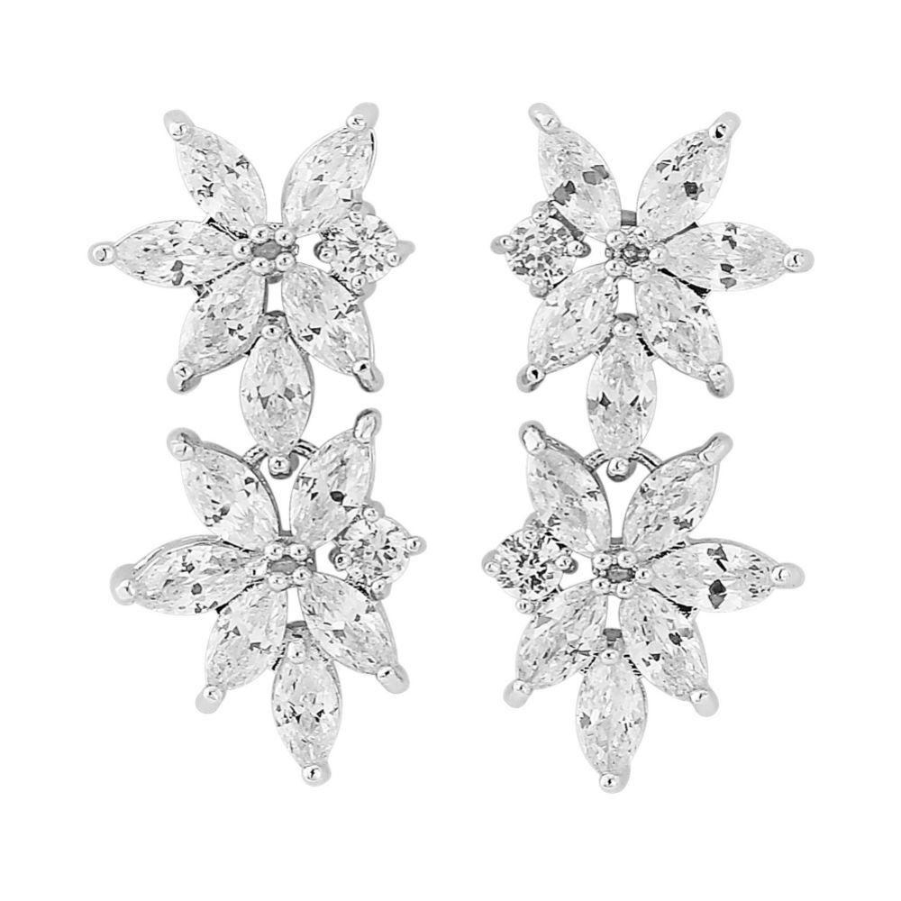Cosmos Statement Crystal Wedding Earrings