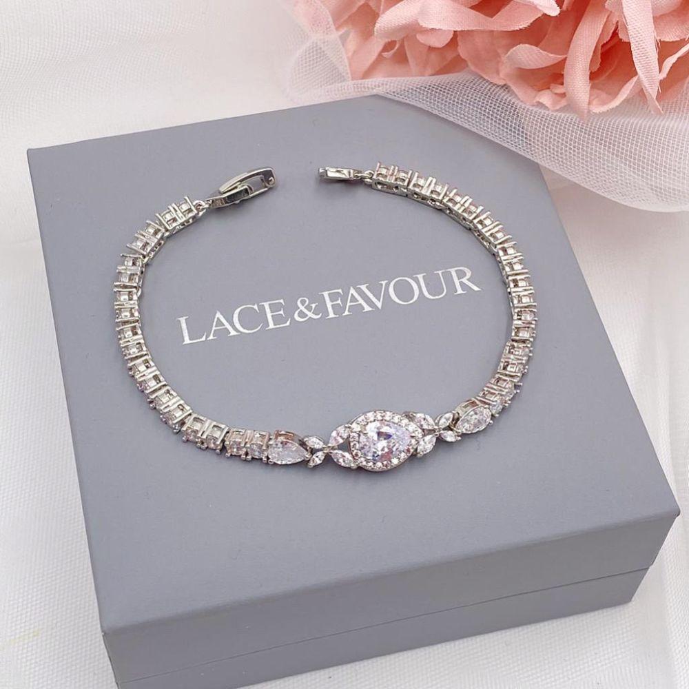 Dorchester Vintage Inspired Crystal Wedding Bracelet