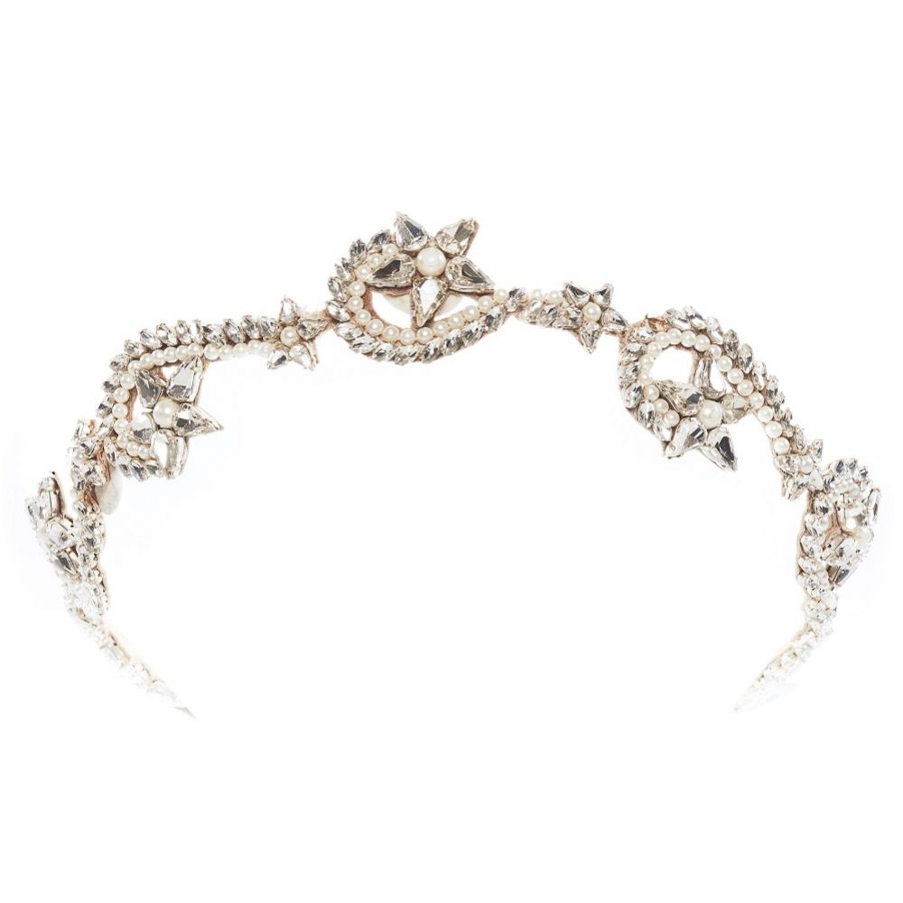 Eliza Jane Howell Sol Swirling Crystal Stars Bridal Headpiece