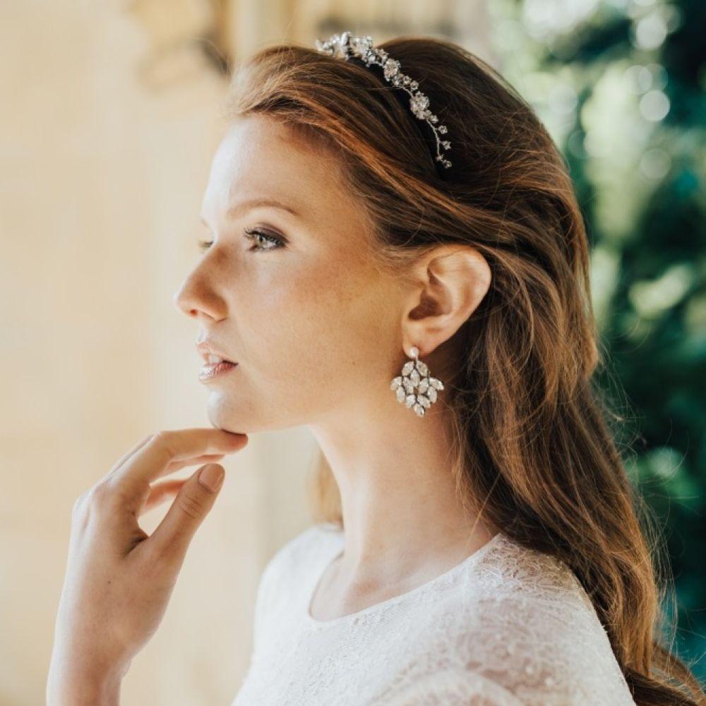 Hermione Harbutt Radiance Statement Crystal Chandelier Earrings