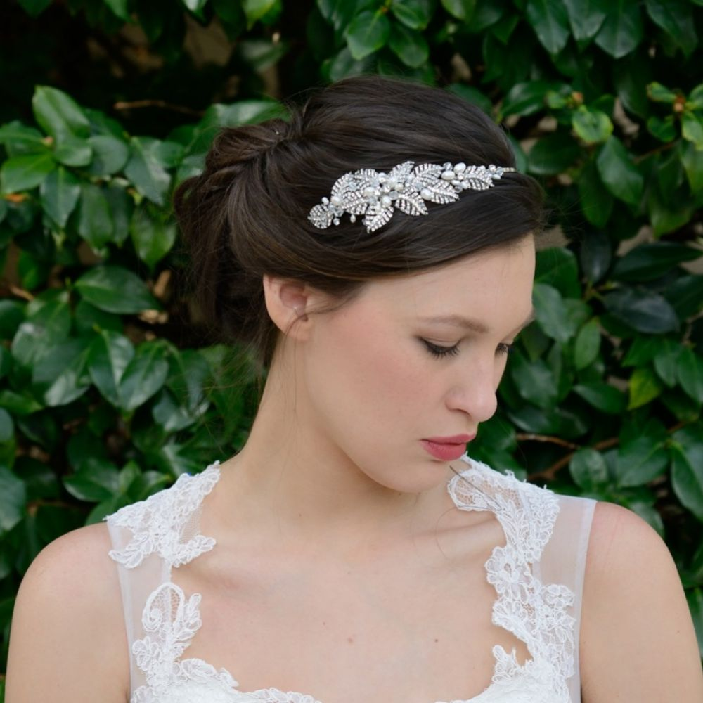 Ivory and Co Acacia Crystal Leaves Wedding Headpiece