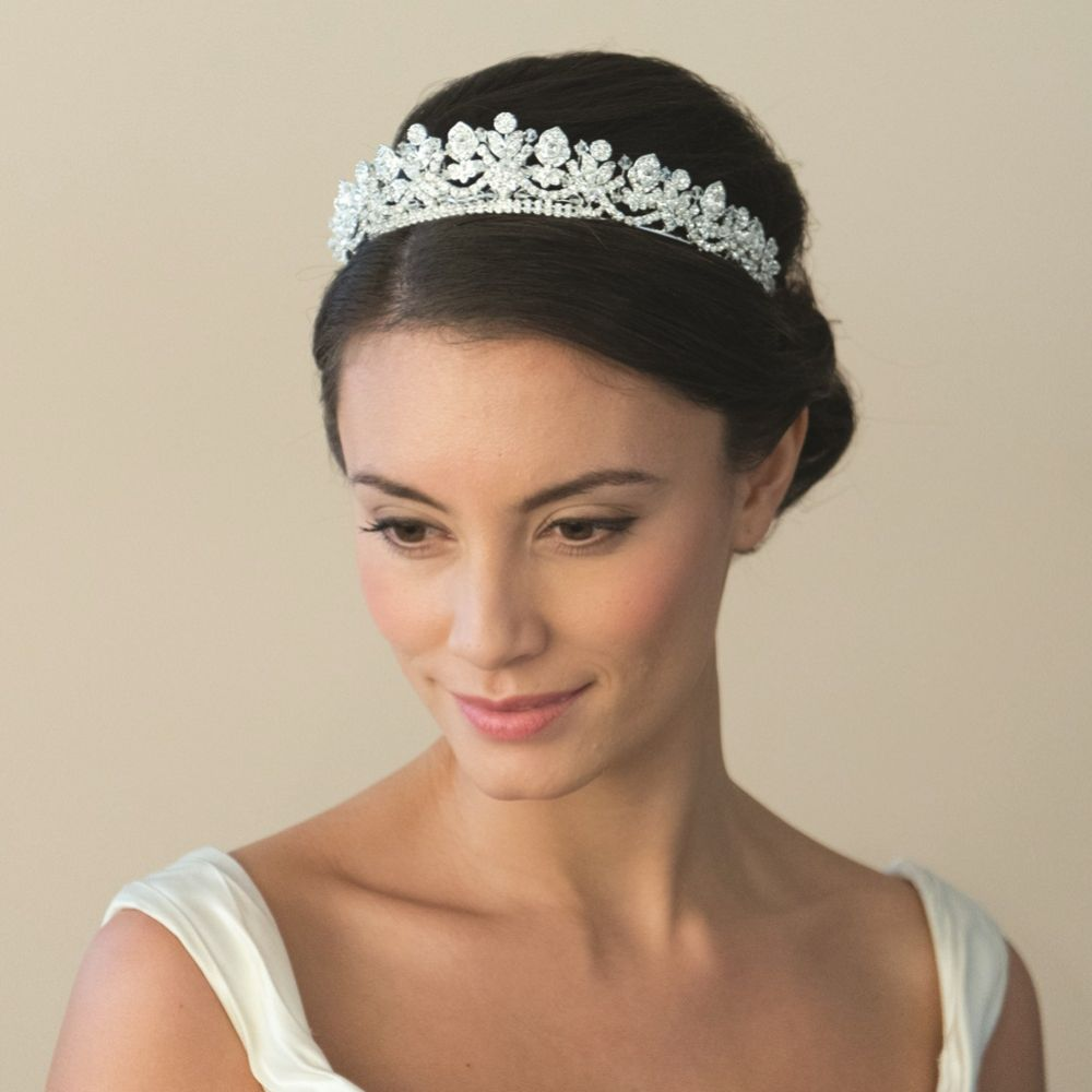 Ivory and Co Alexandra Silver Crystal Embellished Bridal Tiara