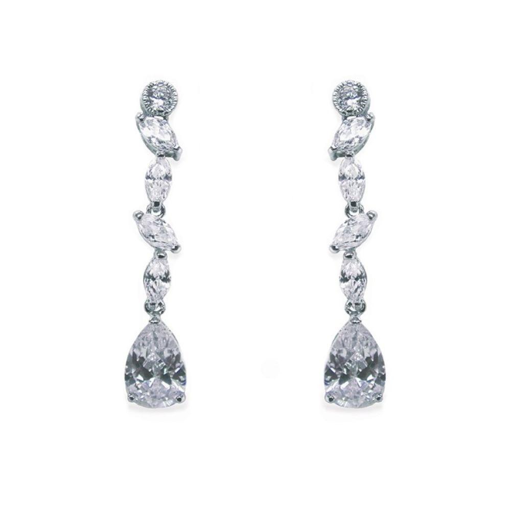 Ivory and Co Andorra Cubic Zirconia Wedding Earrings