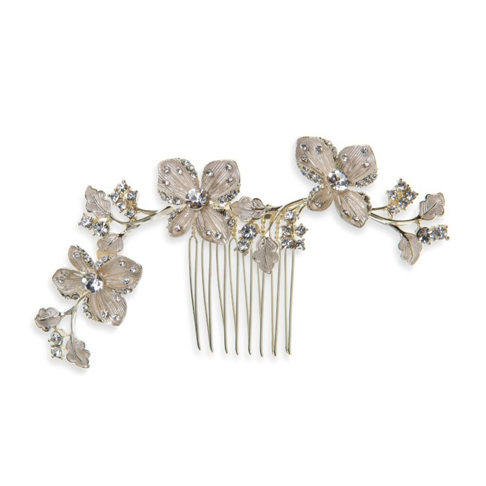 Ivory and Co Buttercup Golden Vine of Flowers Wedding Hair Comb