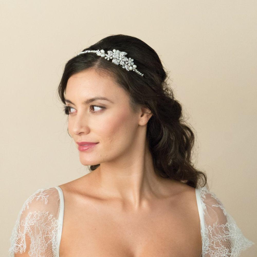 Ivory and Co Clara Pearl and Crystal Bridal Headband