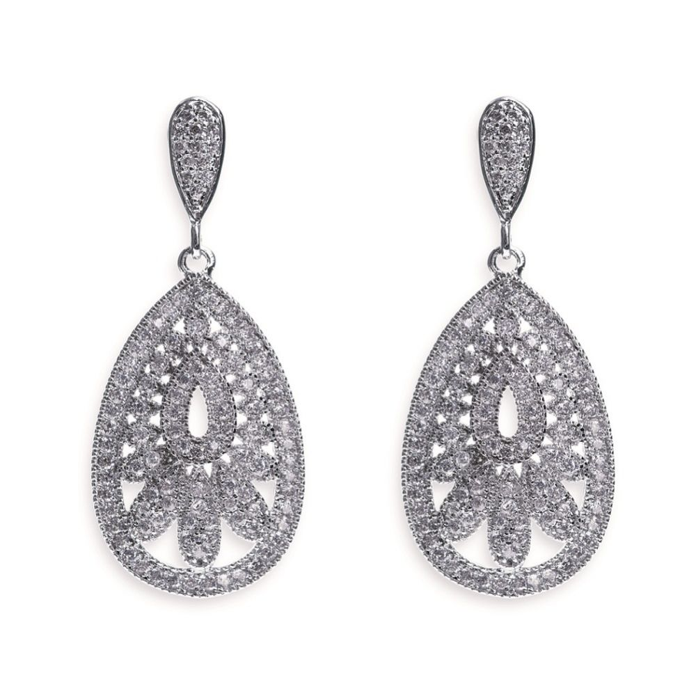 Ivory and Co Cosmopolitan Vintage Inspired Crystal Drop Wedding Earrings
