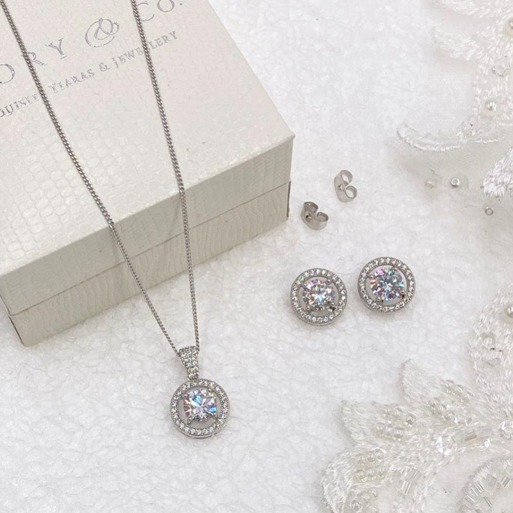 Ivory and Co Hampton Crystal Bridal Jewellery Set