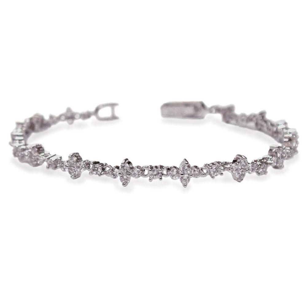 Ivory and Co Kensington Cubic Zirconia Wedding Bracelet