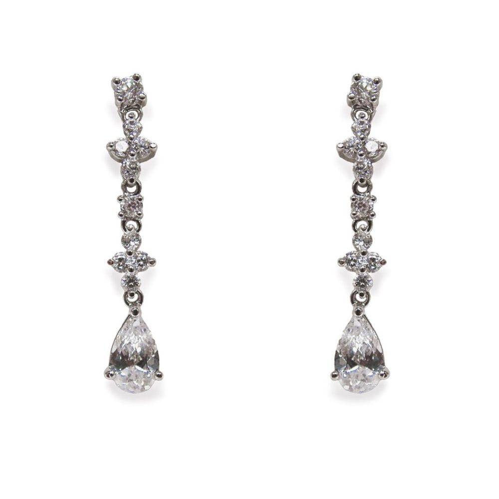 Ivory and Co Kensington Cubic Zirconia Wedding Earrings