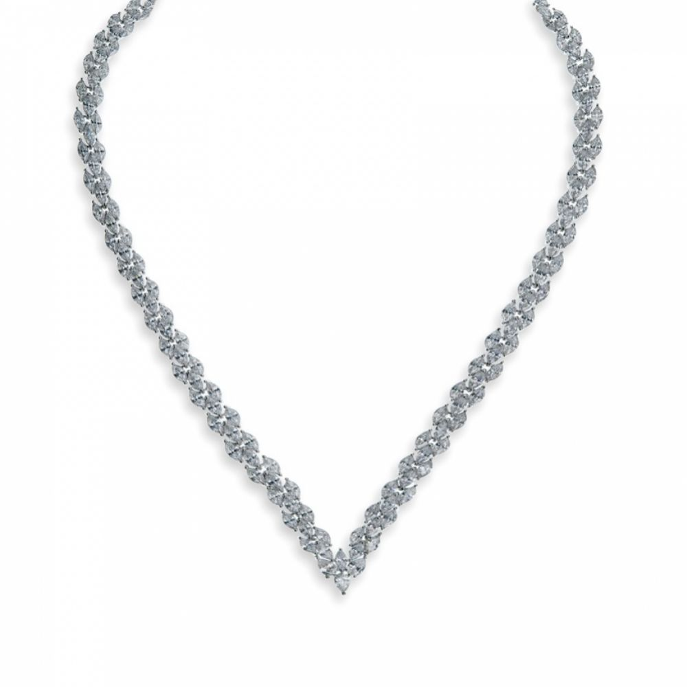 Ivory and Co Lincoln Cubic Zirconia Wedding Necklace