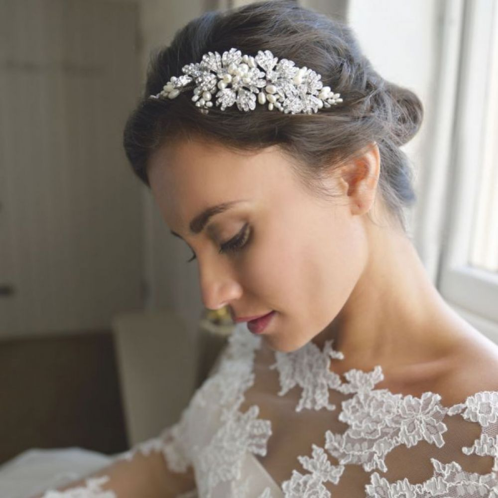 Ivory and Co Maisie Embellished Blooms and Sprigs Wedding Headpiece