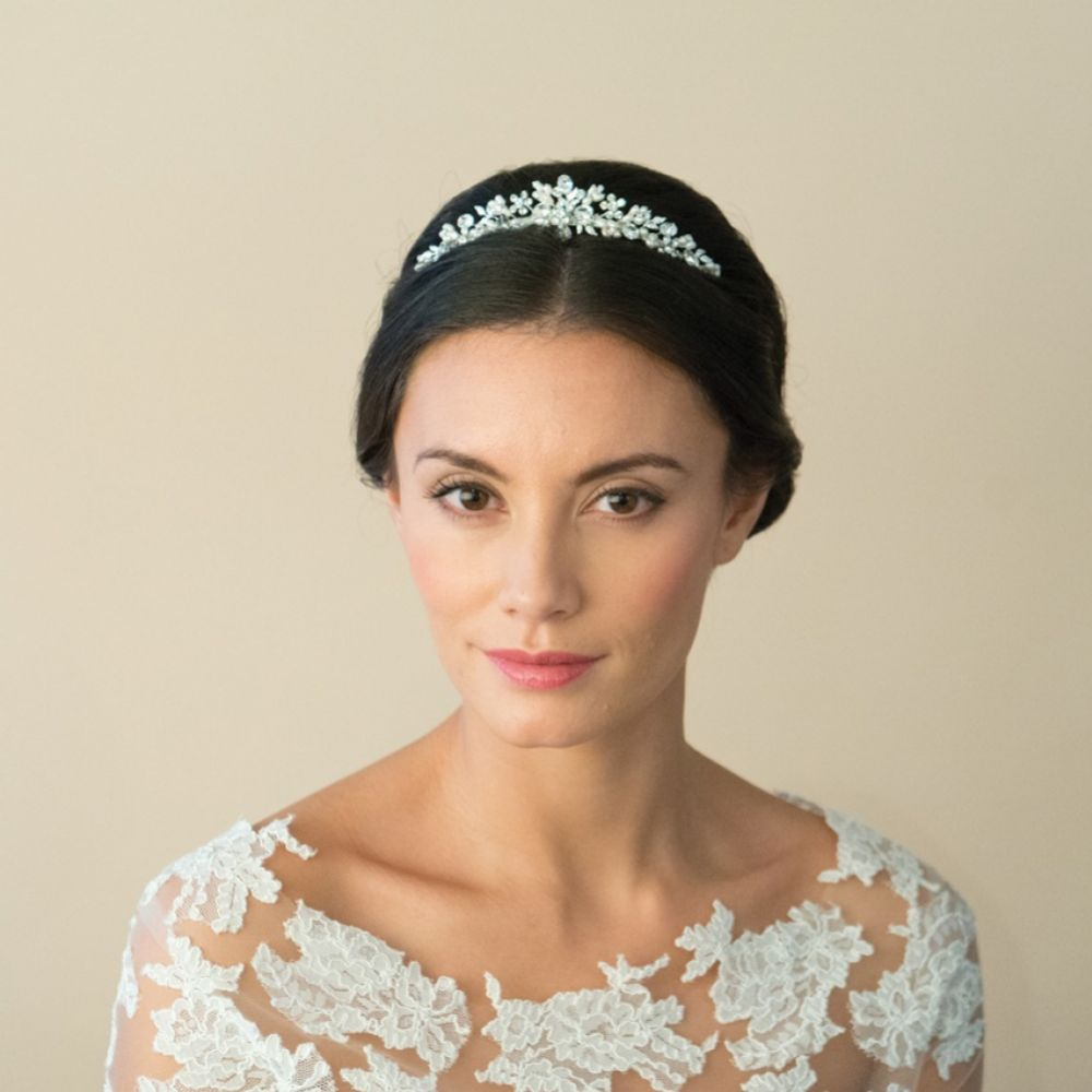 Ivory and Co Melody Floral Pearl and Crystal Bridal Tiara