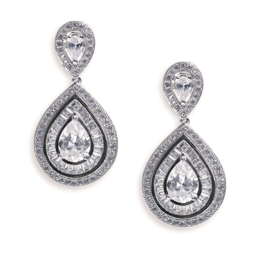 Ivory and Co Montgomery Art Deco Crystal Wedding Earrings