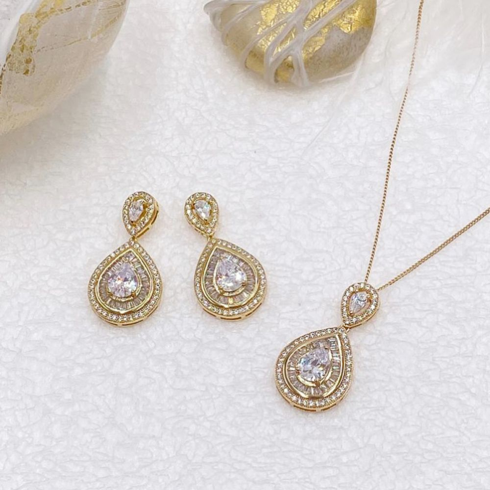 Ivory and Co Montgomery Gold Art Deco Jewellery Set