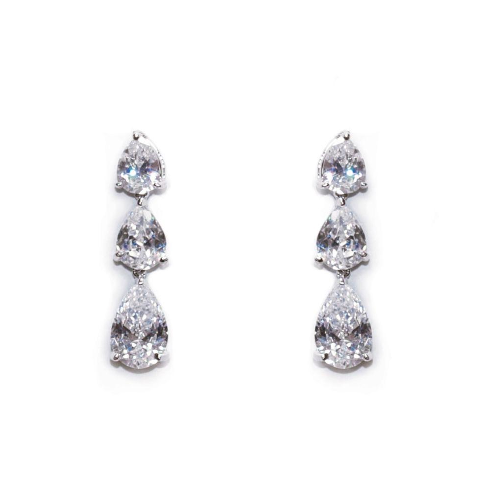 Ivory and Co Purity Teardrop Crystal Wedding Earrings