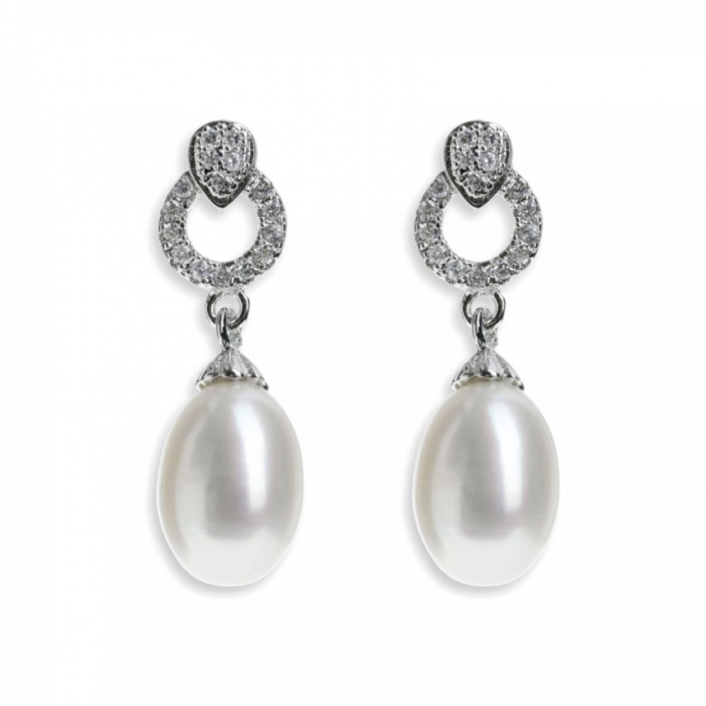 Ivory and Co Stockholm Pearl Drop Earrings