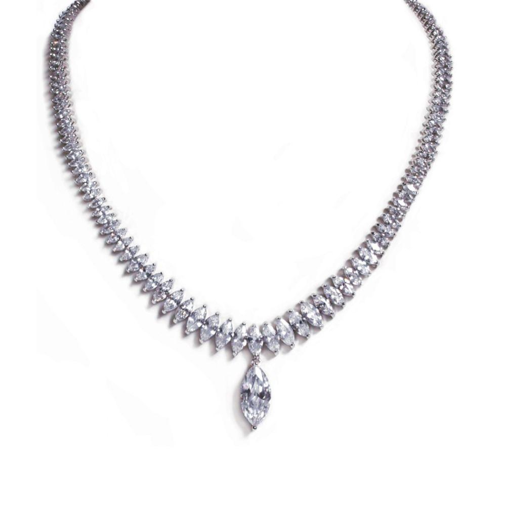 Ivory and Co Tsarina Cubic Zirconia Wedding Necklace