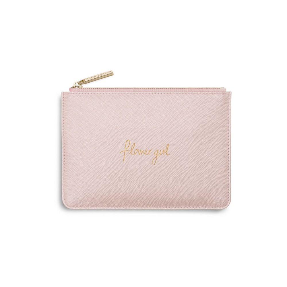 Katie Loxton 'Flower Girl' Metallic Pink Mini Perfect Pouch