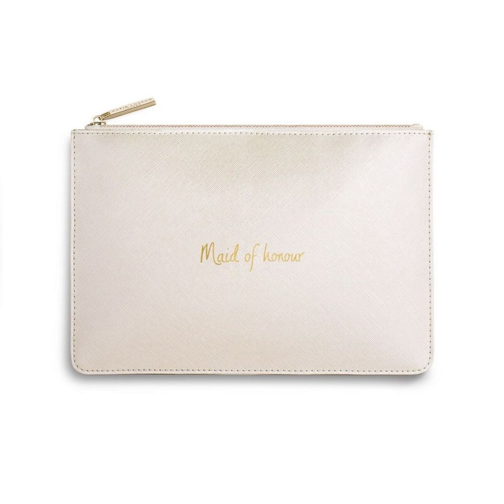 Katie Loxton 'Maid of Honour' Pearlescent White Perfect Pouch