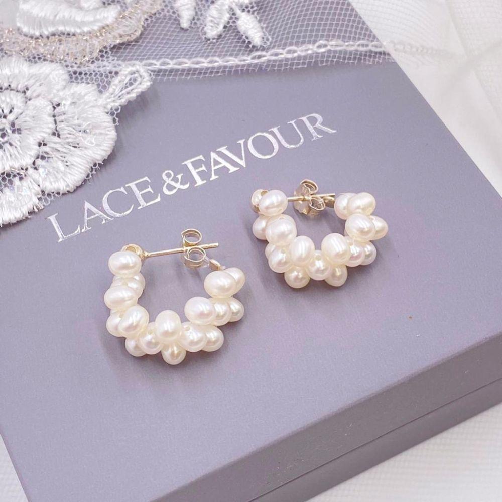 Liana Freshwater Pearl Small Hoop Earrings
