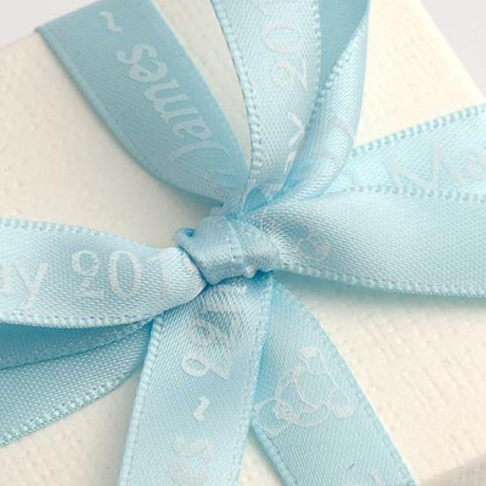 Pale Blue Personalised Ribbon - 25m