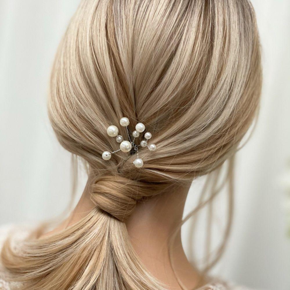 Polly Ivory Pearl Spray Wedding Hair Pin