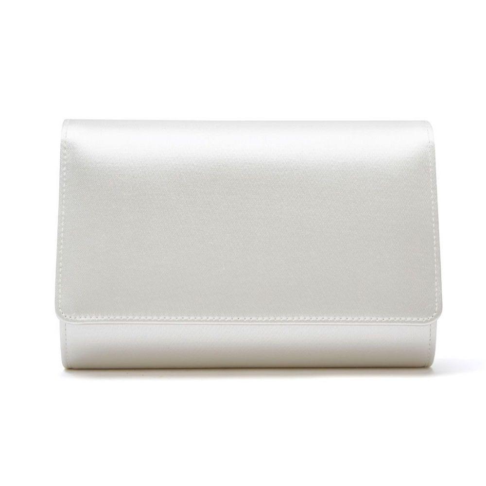 Rainbow Club Dafnee Dyeable Ivory Satin Wedding Clutch Bag