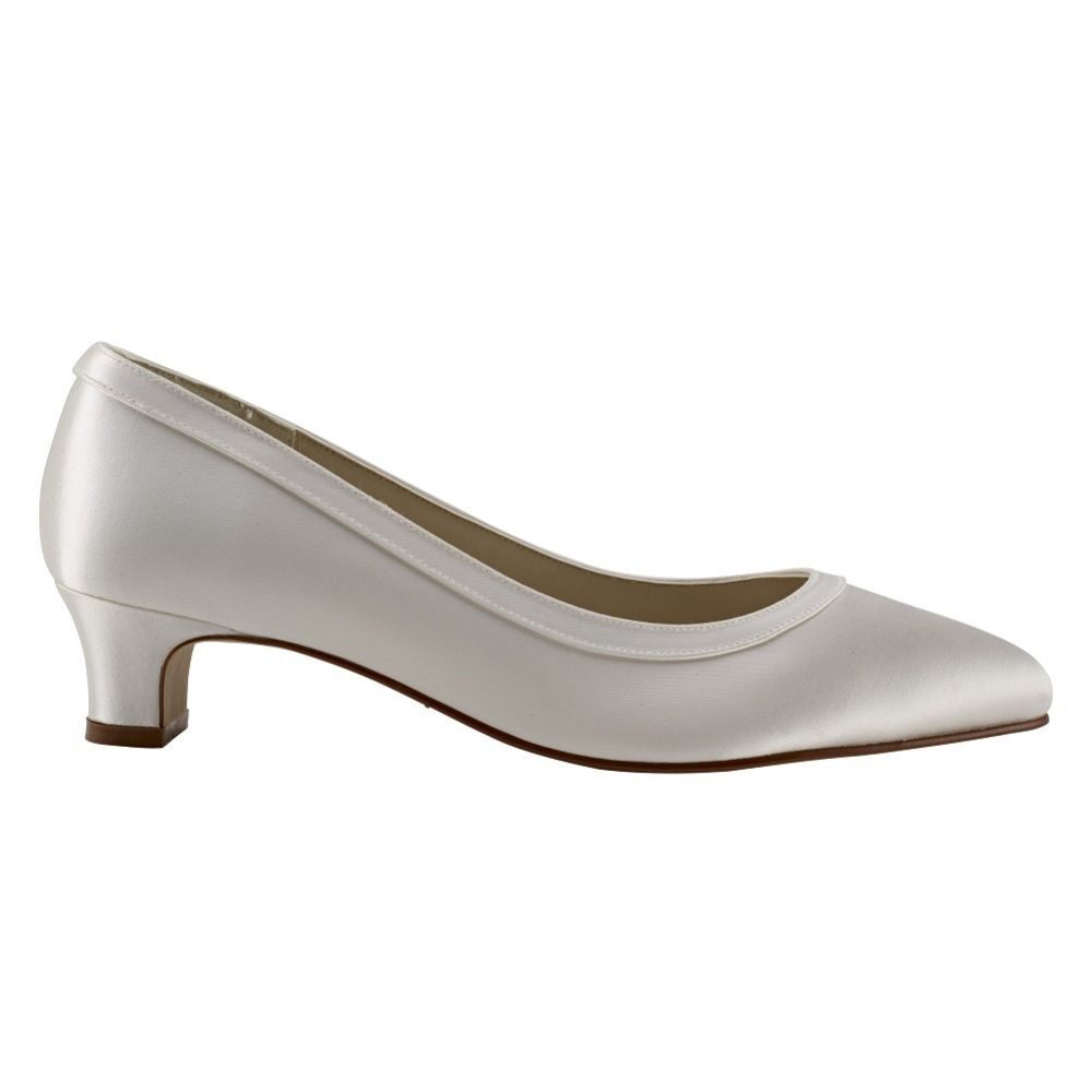 Rainbow Club Gisele Dyeable Ivory Satin Wide Fit Wedding Court Shoes