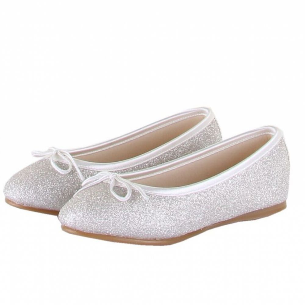 Rainbow Club Hessy Dyeable Silver Glitter Children's Bridesmaid or Communion Shoes