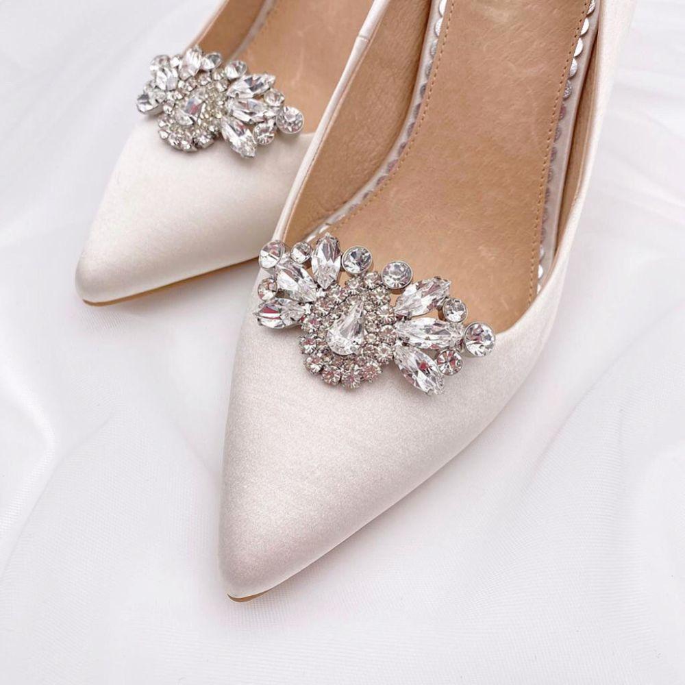 Rainbow Club Myra Diamante Brooch Shoe Clips